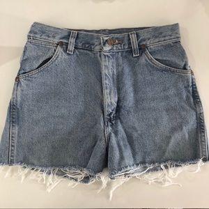 Vintage Wrangler jean shorts.